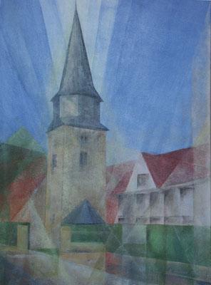 Kirche in Windischholzhausen - 2010 - Acryl auf Leinwand - 60x80