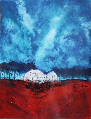 Rote Erde - 2011 - Acryl auf Büttenpapier - 50x70