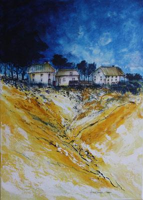 Landhaus gelb - 2011 - Acryl auf Leinwand - 50x70
