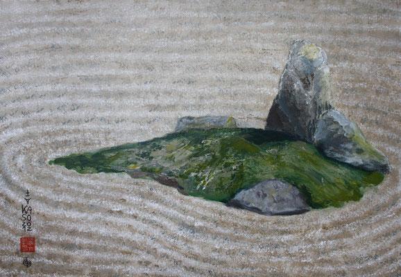 Zen Grasinsel -2012 - Acryl auf Leinwand - 60x80 - verkauft