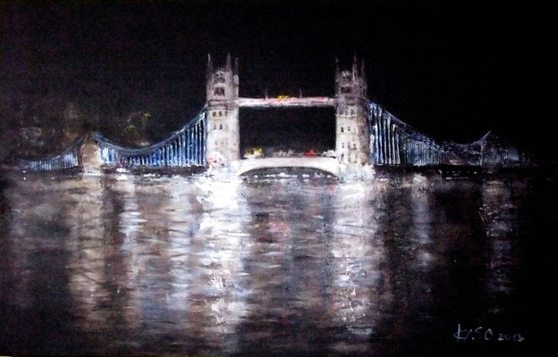 Tower Bridge - 2014 - Acryl auf Leinwand - 70x100