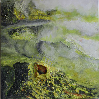 Schwefelhölle - 2012 - Acryl auf Leinwand - 60x60