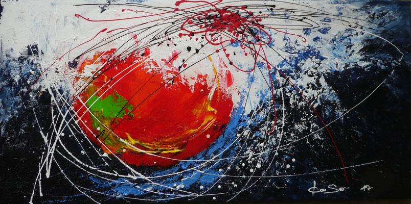 Meteor - 2017 - Acryl auf Leinwand - 50x100