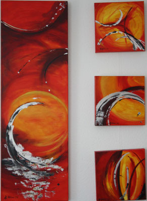 All-Energie - 2008 - Acryl auf Leinwand - 3-teilig - 40x120 - 30x30