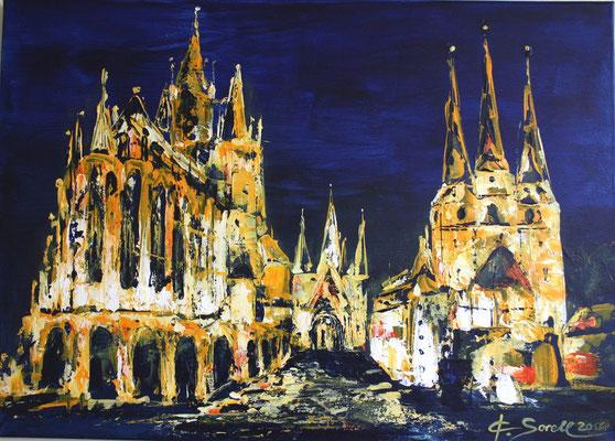 Dom nachtblau - 2011 - Acryl auf Leinwand - 50x70 - verkauft