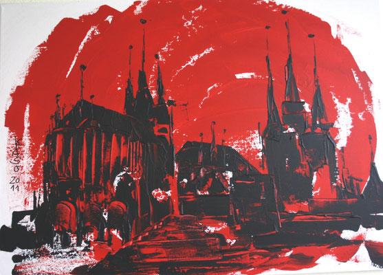 Dom Zen - 2011 - Acryl auf Leinwand - 50x70