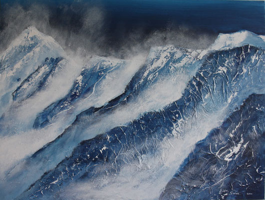 Bergrücken - 2011 - Acryl auf Leinwand - 60x80