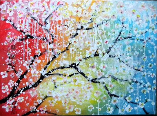 Blütenregen - 2015 - Acryl auf Leinwand - 50x70
