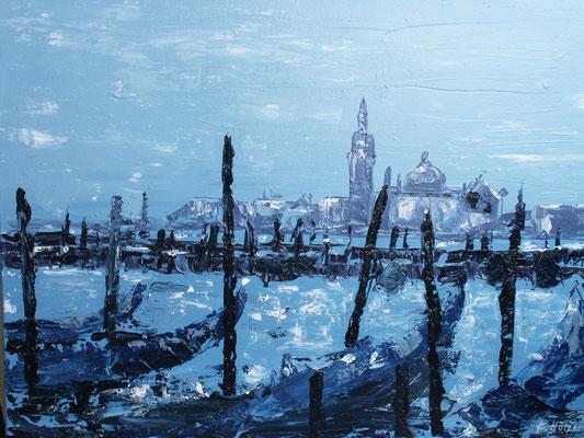 Gondelhafen San Marco - 2006 - Acryl auf Leinwand - 60x80