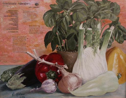 Gemüse - 2004 - Acryl auf Leinwand - 40x50 - verkauft