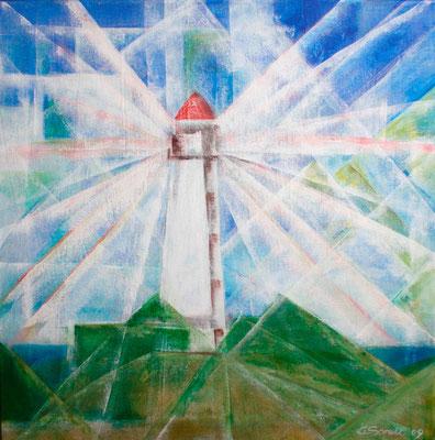 Leuchtturm - 2009 - Acryl auf Leinwand - 60x60