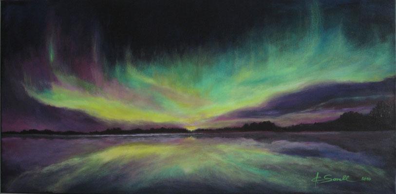 Nordlicht - 2010 - Acryl auf Leinwand - 50x100 - verkauft