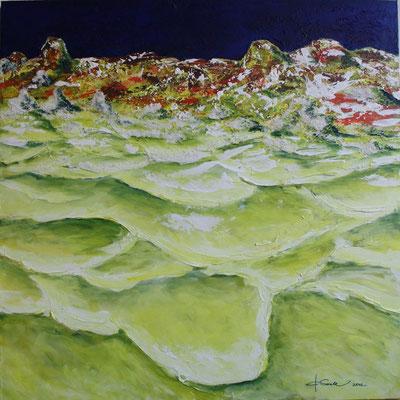 Schwefelbad - 2012 - Acryl auf Leinwand - 90x90