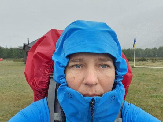 Und jetzt: 30 km Rückweg bei Schnee und Regen!