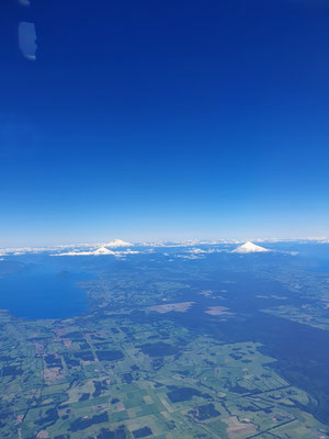 3 Vulkane der Seenregion von oben