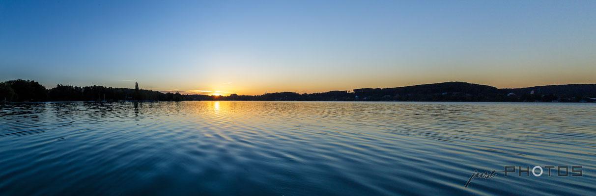 Sonnenaufgang am Wörthsee (Bucht Steinebach)