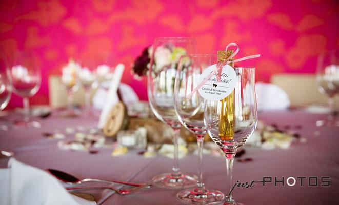 Hochzeit [ Tisch-Dekoration, Gläser ]