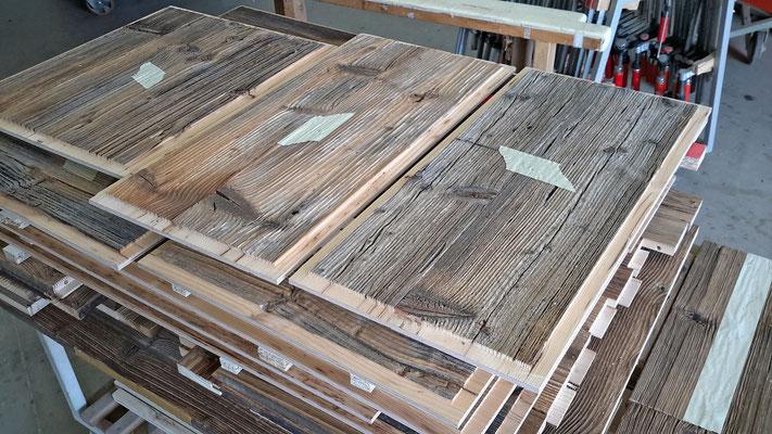 die original Altholzteile...