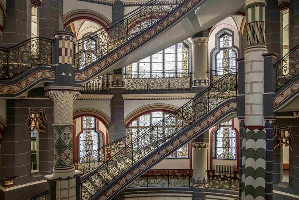Treppenhaus im Landgericht Halle