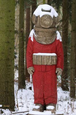 Taucher im Wald