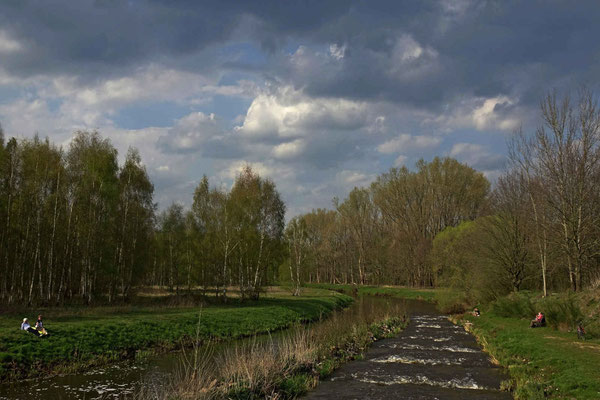 Schöner Frühlingstag an der Hunte bei Hölingen