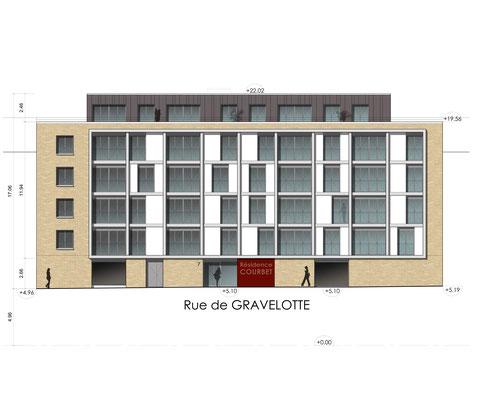 Façade rue Gravelotte