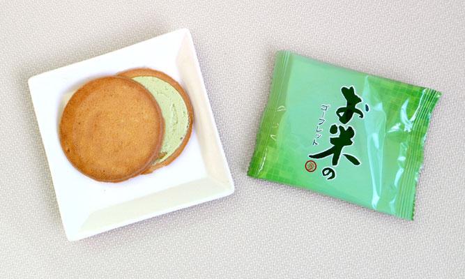 お米の抹茶ゴーフレット