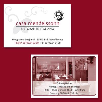 CASA MENDELSSOHN, Logogestaltung, Visitenkarten