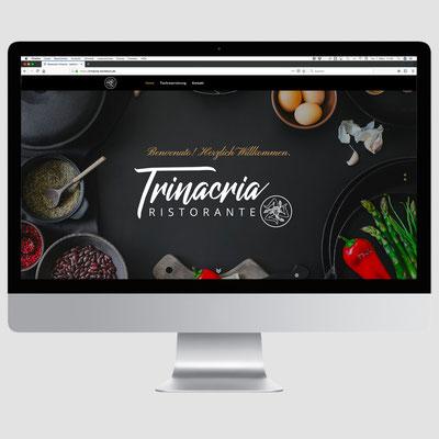 RISTORANTE TRINACRIA, CMS-Homepagegestaltung