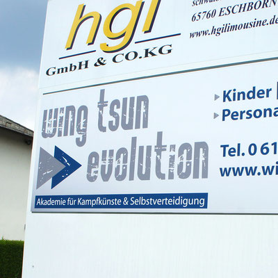 WING TSUN EVOLUTION, Außenwerbung