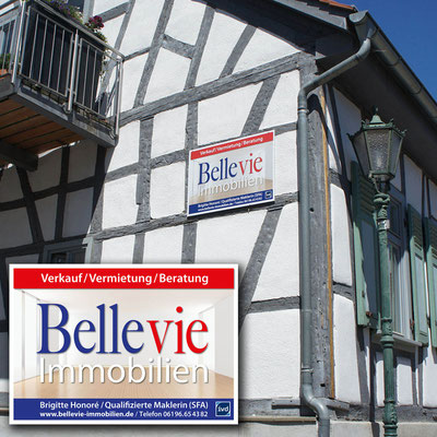 BELLEVIE IMMOBILIEN, Werbeschild