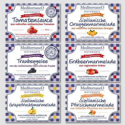 RISTORANTE MEDITERRANEO, Etiketten