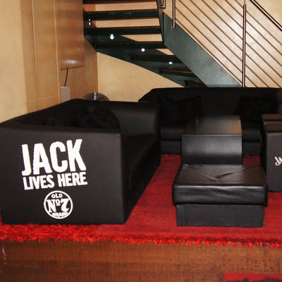 JACK DANIEL'S, tailor-made Sofabeschriftung