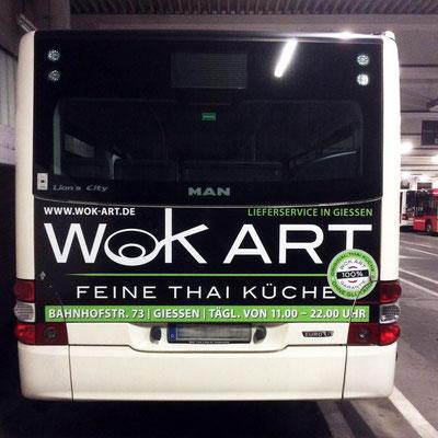 WOK ART, Buswerbung