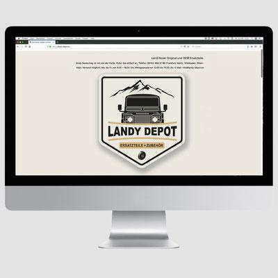 LANDY DEPOT, CMS Webseite