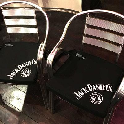 JACK DANIEL'S, bedruckte Sitzkissen
