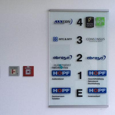 HOPF BÜROGEBÄUDE, Gebäudenavigation