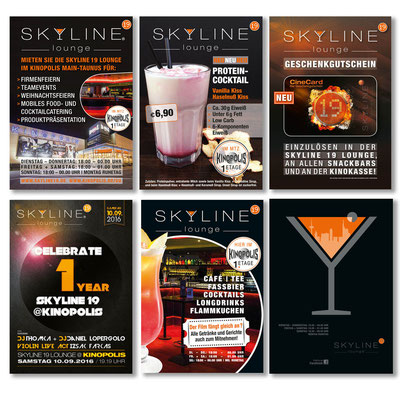 SKYLINE 19 LOUNGE, im Kinopolis, Flyer