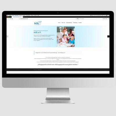 INSL, CMS-Homepageumsetzung