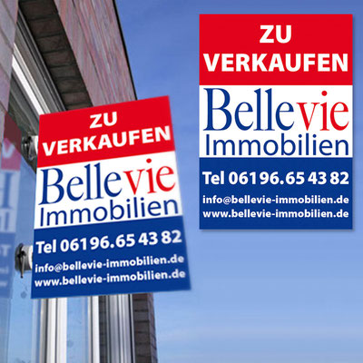 BELLEVIE IMMOBILIEN, Maklerschild