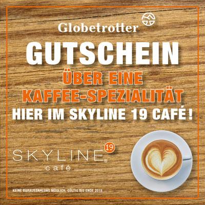 SKYLINE 19 CAFÉ, Gutschein-Flyer