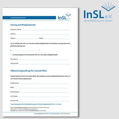 INSL, Anmeldeformular