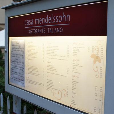 CASA MENDELSSOHN, Schaukasten