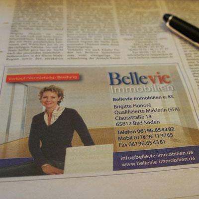 BELLEVIE IMMOBILIEN, Anzeige