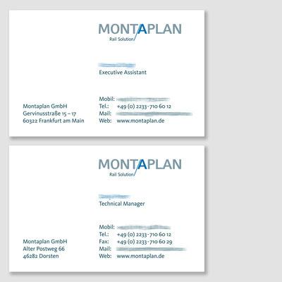 MONTAPLAN, Visitenkarten