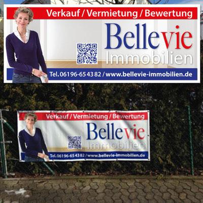 BELLEVIE IMMOBILIEN, Maklerbanner