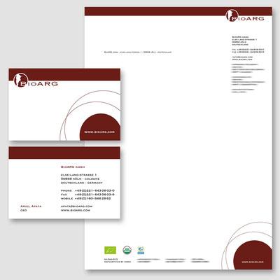 BIOARG, Logodesign + Geschäftsdrucksachen