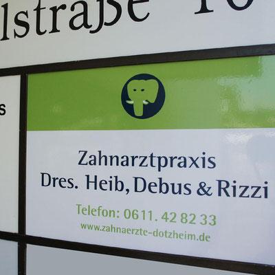 ZAHNÄRZTE DOTZHEIM, Werbeschild