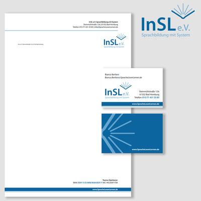 INSL, Logogestalung und Geschäftsdrucksachen