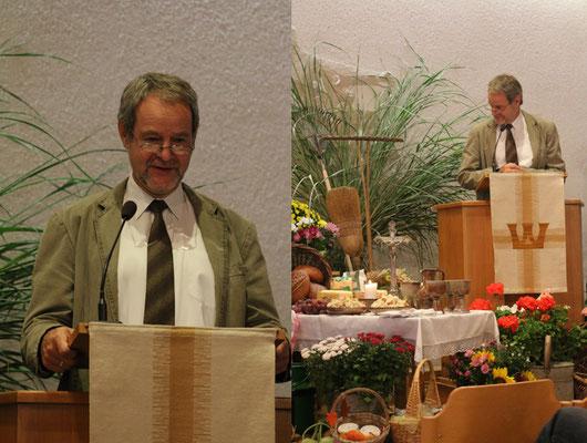 Unser Bezirkspastor Bernd Günther hielt uns die Predigt!